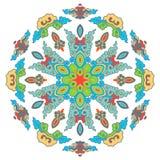 Beau mandala Modèle ornemental rond Images stock