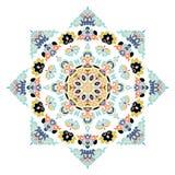 Beau mandala Modèle ornemental rond Images libres de droits