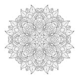 Beau mandala monochrome de découpe de Deco de vecteur Photo libre de droits