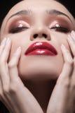 Beau maquillage. Image libre de droits