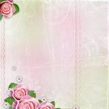 Beau mariage, fond de vacances avec des roses Photo libre de droits