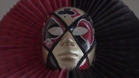 Beau masque vénitien élégant banque de vidéos