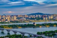 Beau matin dans la ville de Tchang-cha La Chine 2017 Photographie stock libre de droits