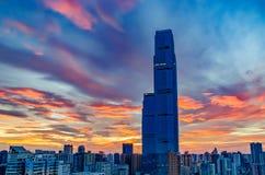 Beau matin dans la ville de Tchang-cha La Chine 2017 Image libre de droits
