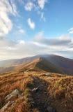Beau matin en montagnes carpathiennes Photographie stock libre de droits