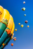 Beau matin et ballons à air chauds Image libre de droits