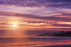 Beau matin tôt sur l'Océan Atlantique LES Etats-Unis maine photo libre de droits