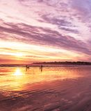 Beau matin tôt sur l'Océan Atlantique LES Etats-Unis maine images libres de droits