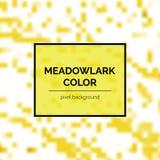Beau Meadowlark Square Background illustration stock