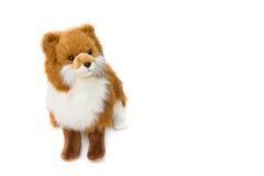 Beau mignon de jouet de Dolly Dog sur le fond blanc Photographie stock libre de droits