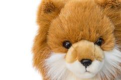 Beau mignon de jouet de Dolly Dog sur le fond blanc Photos libres de droits