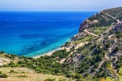Beau Milos Seascape, Grèce images libres de droits