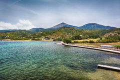 Beau Milos Seascape, Grèce photo stock