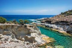 Beau Milos Seascape, Grèce image stock
