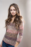 Beau modèle à la mode de brunette. photos libres de droits