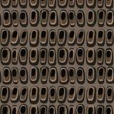 Beau mod?le avec la forme diff?rente abstraite graphique sur le fond brun pour la conception d?corative, textile, papier peint illustration de vecteur