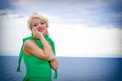 Beau modèle blond Images libres de droits