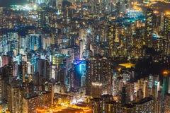 Beau modèle de bâtiment d'architecture dans le skylin de ville de Hong Kong photographie stock libre de droits