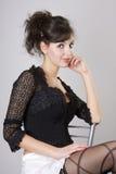 Beau modèle de brunette image libre de droits