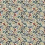Beau modèle de Paisley en batik de style de Javanese illustration stock