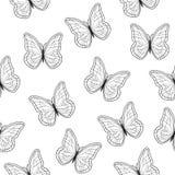 Beau modèle de papillons sans couture Illustration de vecteur EPS10 illustration libre de droits