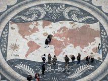 Beau modèle de tuile de mosaïque, Lisbonne Portugal Image libre de droits