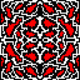 Beau modèle géométrique sans couture abstrait de pixels lumineux rouges de vintage Image libre de droits