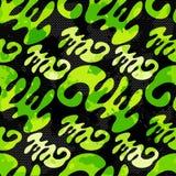 Beau modèle sans couture de graffiti vert sur une illustration noire de vecteur de fond Photo stock