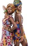 Beau modesl africain de mode dans la robe traditionnelle. Photo libre de droits