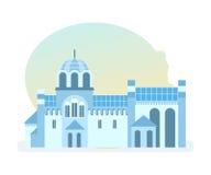 Beau monastère du diocèse de l'église serbe, situé dans la Yougoslavie Images libres de droits