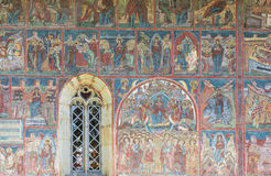 Beau monastère en Roumanie Photographie stock