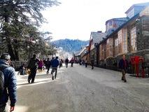 Beau Mountain View à Shimla images libres de droits