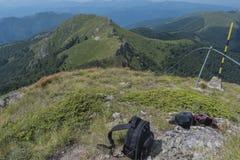 Beau Mountain View des collines sur le chemin à la hutte d'Eho Le Troyan Balkan est exceptionnellement pittoresque et offre a images stock