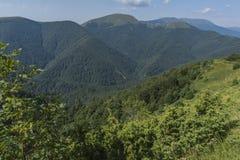 Beau Mountain View des entrées sur le chemin à la hutte d'Eho Le Troyan Balkan est exceptionnellement pittoresque et offre a images libres de droits