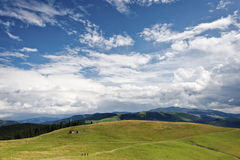 Beau Mountain View en montagnes de Rodnei, Roumanie Image stock