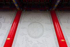 Beau mur des constructions dans le Chinois Images stock