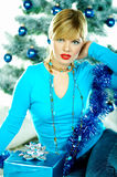 Beau Noël bleu Photos stock