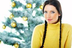 Beau Noël de jaune Photos stock