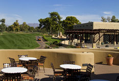 Beau nouveau fairway moderne de terrain de golf en Arizona Photo libre de droits