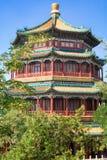 Beau palais d'été impérial dans Pékin, Chine photos stock