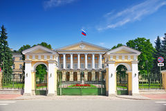 Beau palais de Smolny d'architecture Photos stock