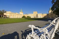 Beau palais Wilanow à Varsovie Capitale de la Pologne images libres de droits