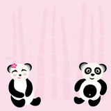 Beau panda illustration libre de droits