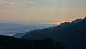 Beau panorama de bord de la mer de Paklenica NP Image stock