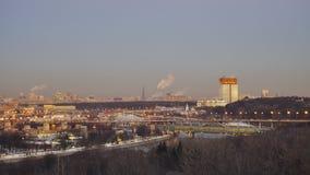 Beau panorama de l'hiver Moscou Photos libres de droits