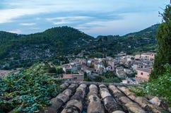 Beau panorama de la ville Estellencs sur Majorque, Espagne Photo stock