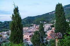 Beau panorama de la ville Estellencs sur Majorque, Espagne Photo libre de droits