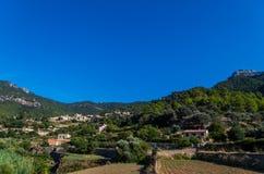 Beau panorama de la ville Estellencs sur Majorque, Espagne Image stock