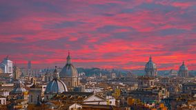 Beau panorama de la ville magnifique de Rome, Italie banque de vidéos