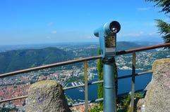 Beau panorama sur le lac Como, Italie Images libres de droits